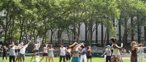 Clases de baile gratis en Bryant Park