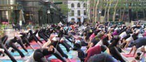 Yoga gratis en Bryant Park