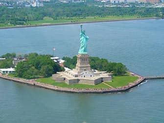 Estatua de la Libertad - vista aerea