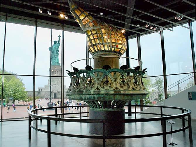 La Estatua de la Libertad en Nueva York - La antorcha