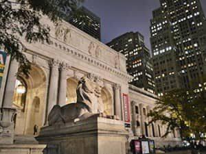 Biblioteca publica en Nueva York