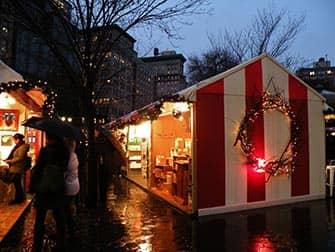 Mercados en NYC - mercado navideno de Union Square