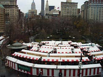 Mercados en NYC - mercado navideno en Union Square