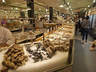 Mercados en Nueva York - Marisco en Chelsea Market