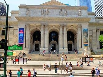 Biblioteca pública en Nueva York - Exterior