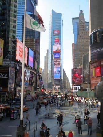 Times Square en NYC - anuncios