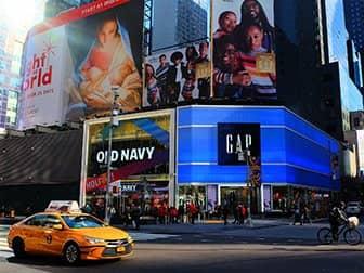 Times Square en Nueva York - Old Navy & Gap
