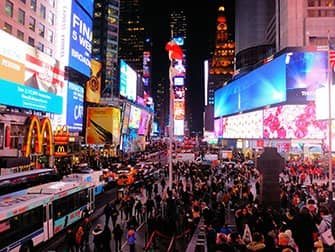 Times Square en Nueva York - Por la noche