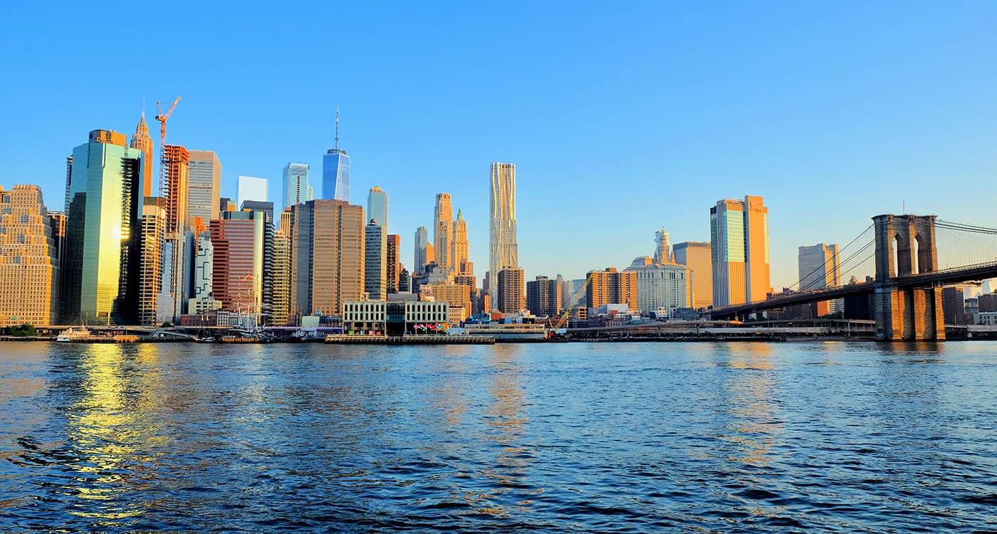 Brooklyn Bridge en Nueva York - Vista desde Brooklyn Bridge Park