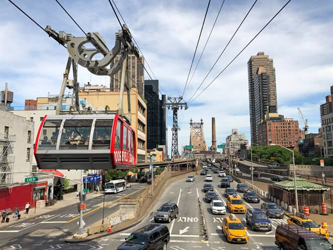 Tomando el Roosevelt Island Tram