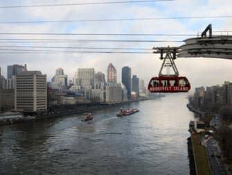 Roosevelt Island Tram en NYC - East River