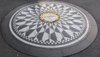 Central Park en NYC - Strawberry Fields