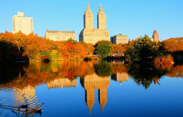 Central Park en Nueva York - Colores otoñales