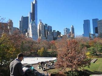Central Park en Nueva York - Patinar sobre hielo