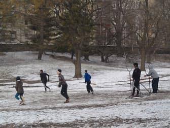 Central Park en Nueva York - diversion en la nieve