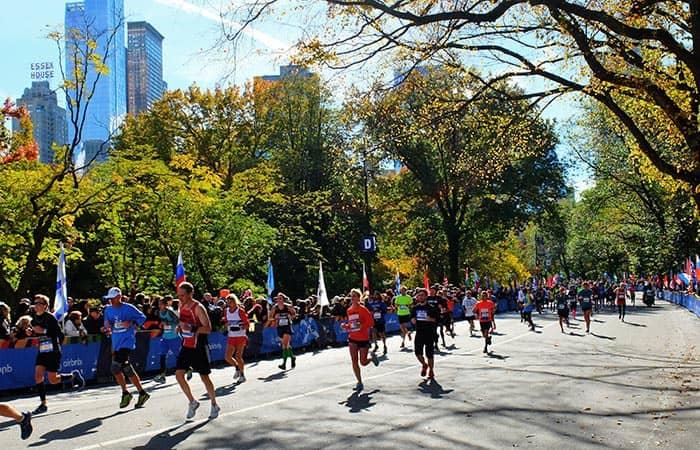La maraton de Nueva York - Participantes en Central Park