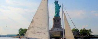 Brunch con champagne en velero por Nueva York
