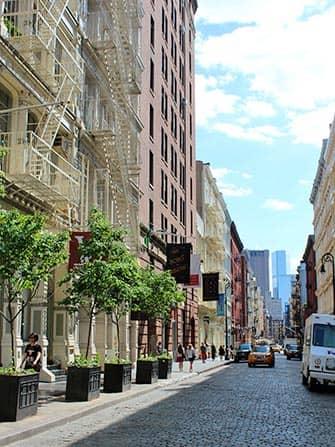 SoHo en Nueva York - calles con adoquines