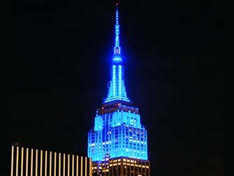 Tickets para el Empire State Building - Iluminación azul