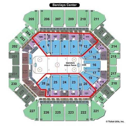 Tickets para los New York Islanders - Plano
