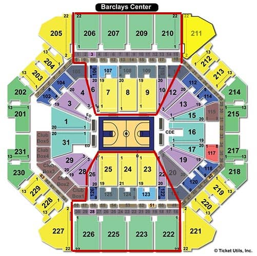Brooklyn Nets - Plano del Barclays Center