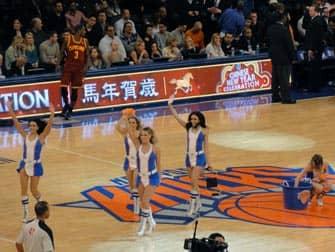 Tickets para los New York Knicks - animadoras