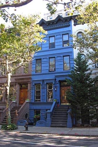 Upper West Side en NYC - casa azul