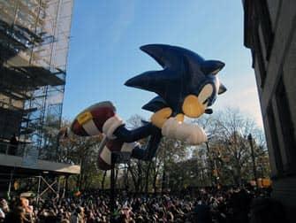 Desfile Macys Thanksgiving en Nueva York - Sonic
