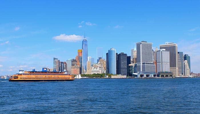 El ferry de Staten Island - skyline