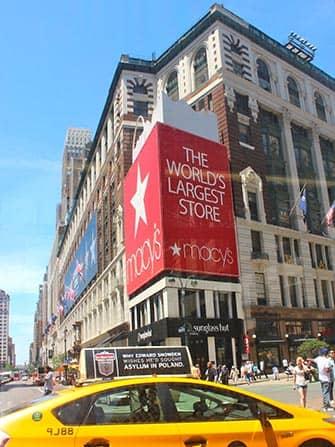 Macys en Nueva York - taxi
