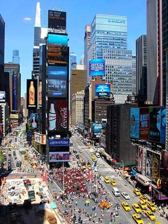 Midtown Manhattan en NYC - Times Square