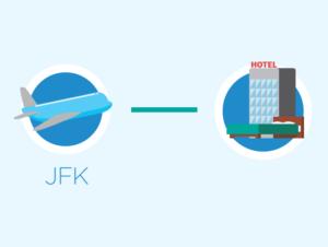 Transporte desde el aeropuerto JFK a un hotel en New Jersey