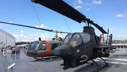 Intrepid Sea, Air and Space Museum en Nueva York - helicoptero