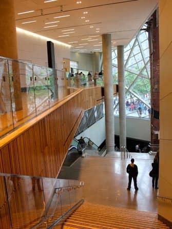 Museo del 11-S en Nueva York - escaleras