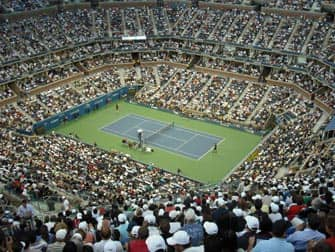 US Open Tennis en NYC -partido de tenis