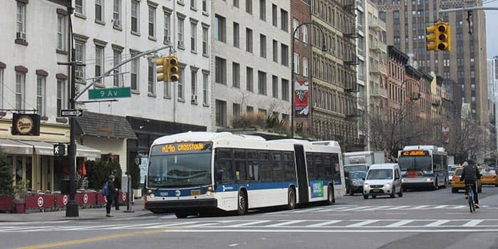 Bus en Nueva York - Bus en 9th Avenue