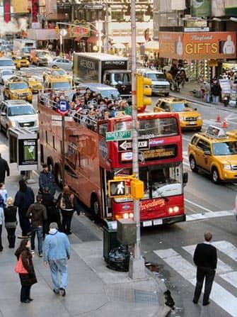 Bus hop on hop off en Nueva York - Gray Line rojo