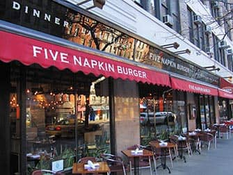 Five Napkin Burger en Nueva York