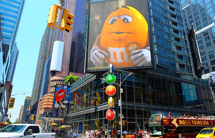 M&M's Store en Times Square Nueva York - Exterior