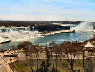 En avion a Niagara Falls -  lado estadounidense