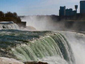 En avion a Niagara Falls - parte americana