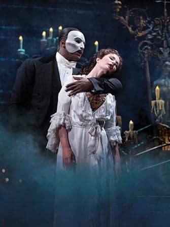 Phantom of the Opera en NYC - el fantasma y Christine
