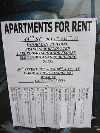 Trabajar y vivir en NYC - Anuncio alquiler de apartamento