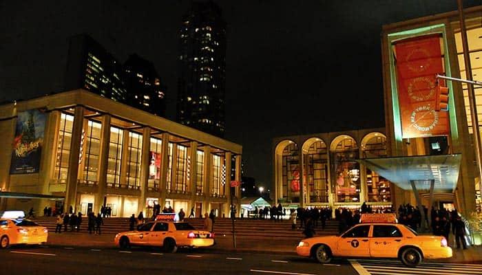 Lincoln Center en Nueva York por la noche