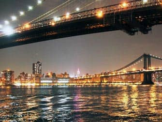 Parques en NYC- Brooklyn Bridge de noche
