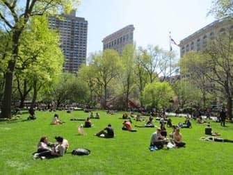 Parques en NYC - gente en Madison Square Garden