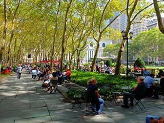Parques en Nueva York - Terraza Bryant Park