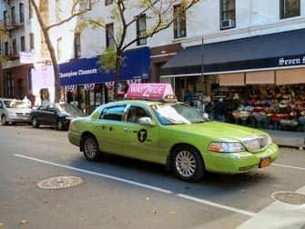Taxi en NYC - taxi verde