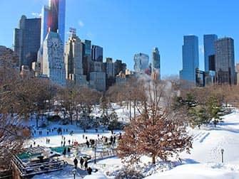 Ano Nuevo en Nueva York - Patinaje sobre hielo en Central Park