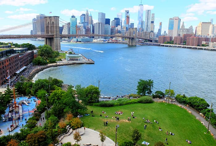 Brooklyn Bridge Park en Nueva York - Desde arriba